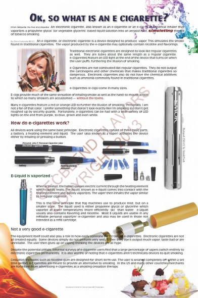What is an ECig Poster