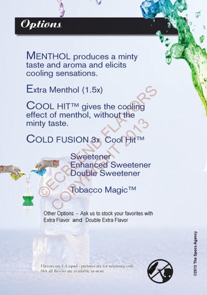 ELiquid Options Menu Poster