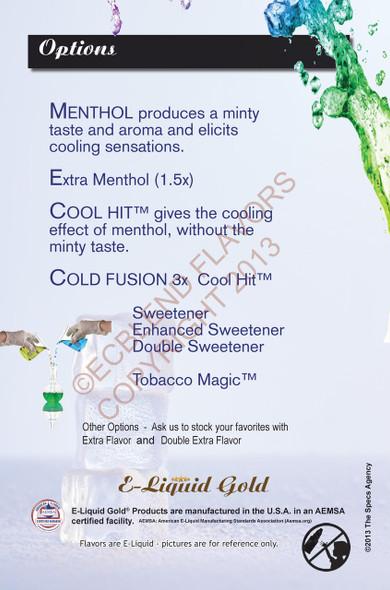 E-Liquid Options Menu