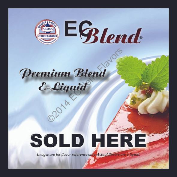 Window Decal - Eliquid Sold Here  - ECBlend Brand
