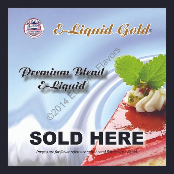 Window Decal - ELiquid Sold Here  - Eliquid Gold Brand