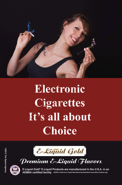 Poster - Its All About Choice - Type 2 -  ELiquid Gold Brand