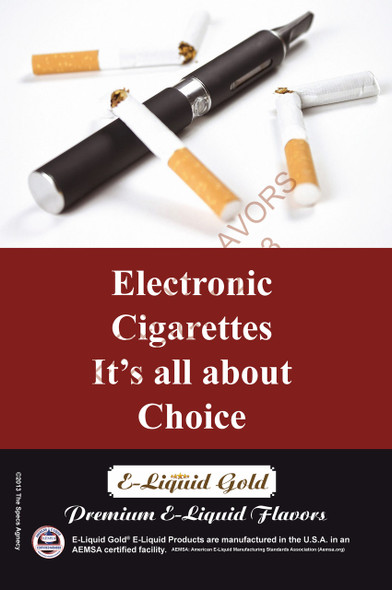 Poster - Its All About Choice - Type 4 -  ELiquid Gold Brand