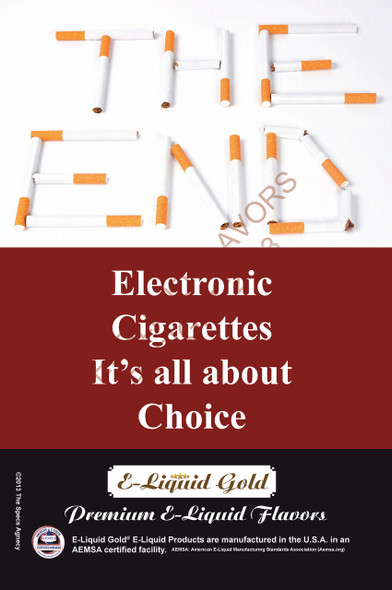 Poster - Its All About Choice - Type 6 -  ELiquid Gold Brand