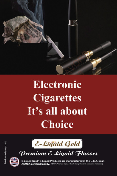 Poster - Its All About Choice - Type 8 -  ELiquid Gold Brand