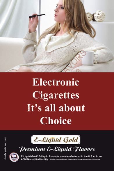 Poster - Its All About Choice - Type 11 -  ELiquid Gold Brand