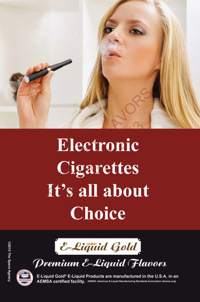 Poster - Its All About Choice - Type 12 -  ELiquid Gold Brand
