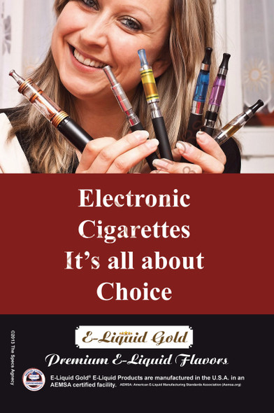 Poster - Its All About Choice - Type 13 -  ELiquid Gold Brand