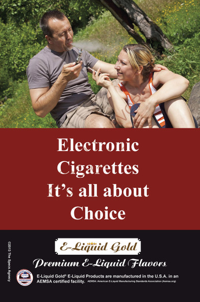 Poster - Its All About Choice - Type 18 -  ELiquid Gold Brand