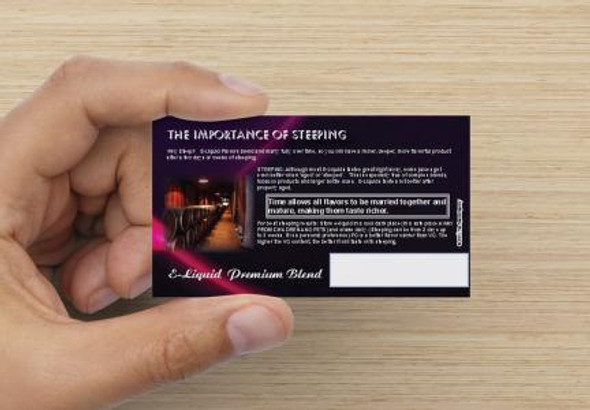 Steeping Cards by ECBlend E-Liquid Flavors