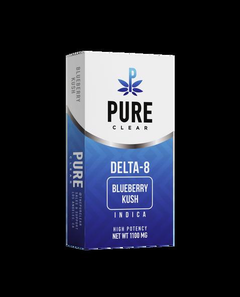 Pure Clear Brand - Delta-8 Cartridge - 1 Gram - Blueberry Kush - Indica