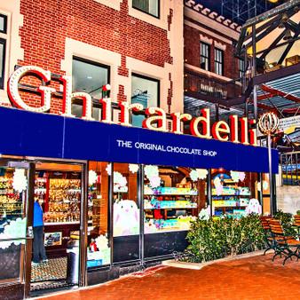 The Original Ghirardelli Ice Cream &  Chocolate Shop Sign