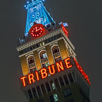 The Tribune Tower sign