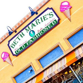 This vintage-style staple with over 100 flavors of homemade ice cream is a Denton, Texas staple. Featuring an antique soda fountain and lunch fare, Beth Marie's serves more than just sweet treats.