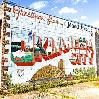Whether you have Oklahoma pride or are simply reminiscent over your last visit, this Oklahoma City mural represents the core of an Oklahoman's integrity.