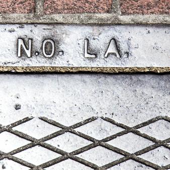 Silver N.O. LA. Manhole.