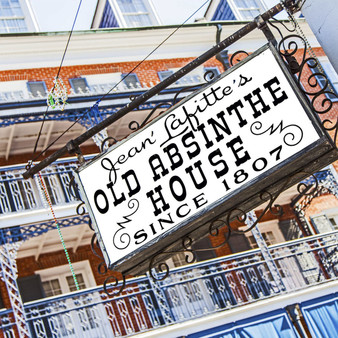 For almost 200 years the Old Absinthe House bar has been a staple of life in the French Quarter. Located on the corner of Rue Bourbon and Rue Bienville, the cooper-topped wooden bar captivates patrons as they sip their favorite beverages and the sights and sounds of the French Quarter trickle into this comfy tavern.
