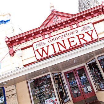 Georgetown Winery is located on the Historical Square in DowntownGeorgetownTexas in a 130 year old building.