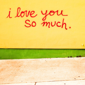 This popular mural sits outside of Jo's Coffee on Congress Ave. in Austin. The mural was born after a love spat between the couple who own the popular coffee shop, prompting its creation as a peace offering.
