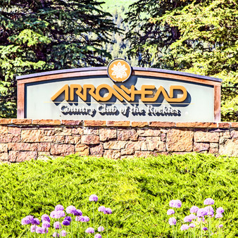 This sign invites you into the Country Club of the Rockies, a private golf club located in the Vail Valley of Colorado, within the beautiful gated community of Arrowhead. The course opened in 1984, and is consistently ranked as one of the top courses in Colorado.