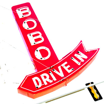 <p>Bobo's Drive In is a classic old drive-in that has been operating in Topeka, Kansas since 1948, and has been at this location on 10th Avenue since 1953<p><p>Click &lsquo;Choose a Product&rsquo; above to get this image hand printed on a ceramic 4x4 custom coaster, cutting board, magnet, ceramic trivet, ornament, dog tag or canvas.</p>