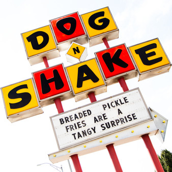 <p>Since 1948, Dog N Shake has been the home of the Original Toasted Bun and one of Wichita's most recognized burger shops.<p><p>Click &lsquo;Choose a Product&rsquo; above to get this image hand printed on a ceramic 4x4 custom coaster, cutting board, magnet, ceramic trivet, ornament, dog tag or canvas.</p>