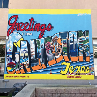 This playful mural emphasizes the free-spirited attitude Galveston Island possesses as a whole. Saengerfest Park, Galveston Island.