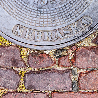 Manhole cover is from Lincoln, NE.
