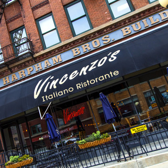 Vincenzo's Ristorante is a neighborhood Italian restaurant featuring an extensive selection of familiar dishes in a setting with exposed brick.