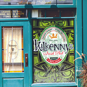 Here at Kilkenny's, charm greets you at the door as seen in this print. Recognized as one of the newest Irish pubs in Tulsa, Oklahoma, this distinctive restaurant has quickly become one of the local gathering places due to its dynamic menu that has something for everybody. Now a pitstop for tourists, Kilkenny's ultimate mission is to share passion and talent through a shared food experience.