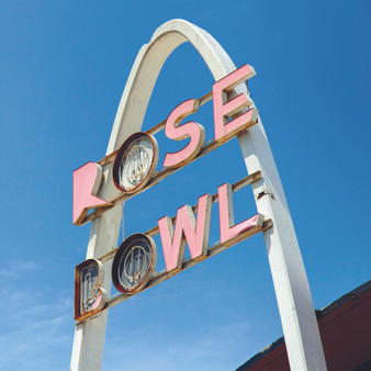 The Rose Bowl, a former bowling alley with a unique design, is an eye-catcher on the Tulsa stretch of Route 66.