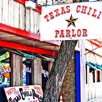 The Texas Chili Parlor has been an Austin institution since 1976. It is many things to many people. To Texas legislators, TCP is a favorite lunch spot, just up the street from the state capitol.To University of Texas students and fans, TCP is a great sports bar, with plenty of enthusiasm for all the UT teams