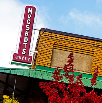 Mugshots Bar and Grill is a popular, laid-back restaurant for burgers, sandwiches & salads!