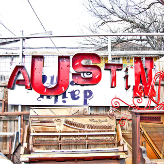This colorful Austin sign was spotted in downtown.