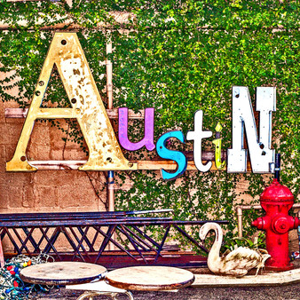 This colorful pic was taken in downtown Austin!