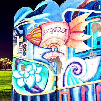 This mural was captured in Baton Rouge, LA.