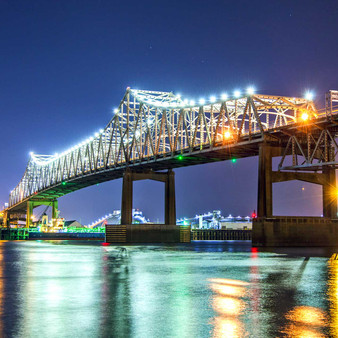 The Horace Wilkinson Bridge is a cantilever bridge carrying Interstate 10 in Louisiana across the Mississippi River from Port Allen in West Baton Rouge Parish to Baton Rouge in East Baton Rouge Parish.