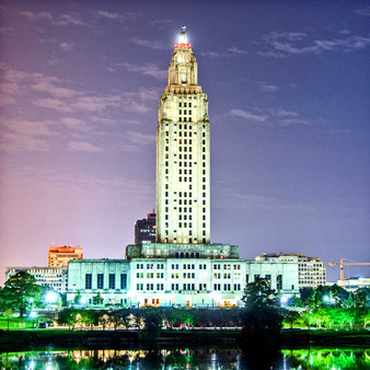 The Louisiana State Capitol is the seat of government for the U.S. state of Louisiana and is located in downtown Baton Rouge. The tallest capitol in the U.S., the building is 450 feet high with 34 floors.