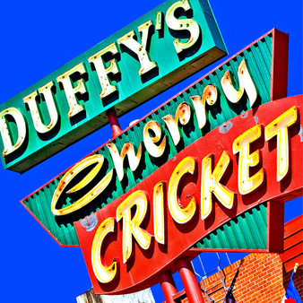 This vibrant neon marquee marks the location of The Cherry Cricket, one of Denver's best burger joint since 1945. Located on 2nd Avenue in ritzy Cherry Creek, the Cherry Cricket cooks up award-winning burgers and serves them with cold Colorado craft beer.