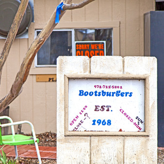 Boots Burgers has been around since 1968. The eatery is a no-nonsense carry-out hot spot with a walk-up window serving nothing but hamburgers, chips, and soda. For over 40 years people have trekked from all over Texas to visit this iconic establishment located in Rockwell, Texas.