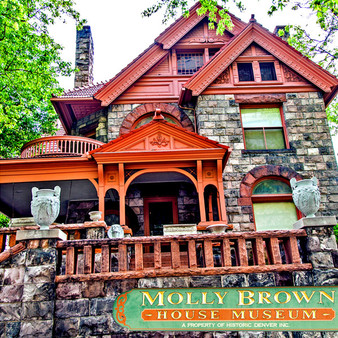 """The Molly Brown House Museum is a house located in Denver, Colorado, that was the home of American philanthropist, activist, and socialite Margaret Brown. Brown was known as """"The Unsinkable Molly Brown"""" because she survived the sinking of the RMS Titanic. The museum, now located in her former home, presents exhibits interpreting her life and that of Victorian Denver as well as historic preservation."""