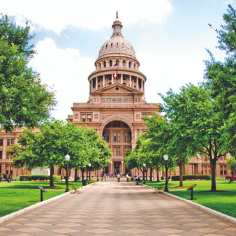 The Texas State Capitol is the capitol building and seat of government of the American state of Texas. Located in downtown Austin, Texas, the structure houses the offices and chambers of the Texas Legislature and of the Governor of Texas.
