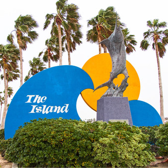 Welcoming you into Galveston Island, the town uses this sculpture of a large fish to represent the town's major aquatic life.