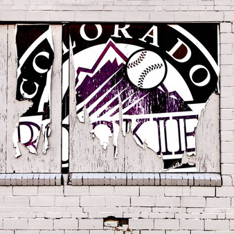 Welcoming the fans and team members of this American professional baseball team, is this Colorado Rockies Sign. While its black, blue and white color features are presented, visitors can expect to find much of Rockies' prideful gear all throughout Denver.
