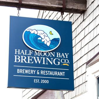 Half Moon Bay Brewing Company Sign
