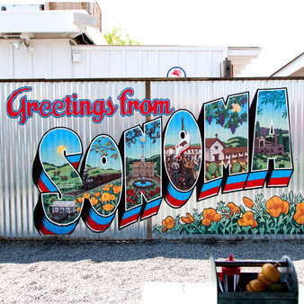 Greetings From Sonoma Mural