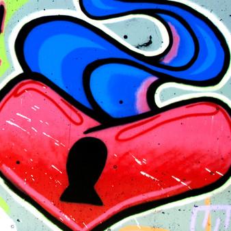 Heart And Lock Mural - 2 - Heart