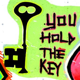 Heart And Lock Mural - 1 - Key