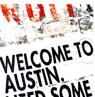 This mural in Austin welcomes everyone to the live music capitol of the world!