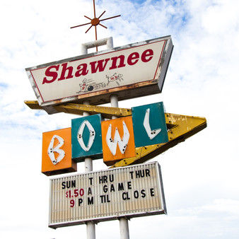 This historic bowling alley is located in Shawnee, OK.